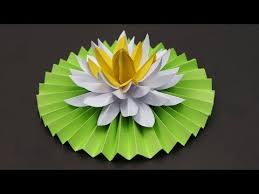 How To Make A Lotus Flower Out Of Paper Videos Matching Diy How To Make Most Beautiful Lotus Water