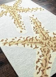 charming starfish outdoor rug area c nautical rugs elegant terrace palm from orange indoor r