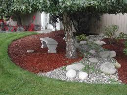 Tree landscaping ideas Flowering 2 Patio With Plenty Of Natural Shade Zacs Garden 16 Landscaping Ideas Around Trees Zacs Garden