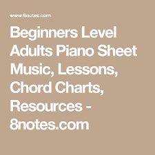 8notes Piano Chord Chart Beginners Level Adults Piano Sheet Music Lessons Chord