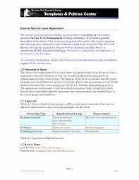 help desk service level agreement template service level agreement format lovely service agreement