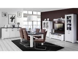 Wohnzimmer Gaston 52 Weiß Grau Beleuchtung 6 Teilig Schneeeiche