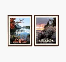 Free shipping on orders over $35. Acadia National Park Poster Acadia Wall Art National Park Poster Decor Wpa Poster Maine Home Maine Wall Art Housewarming Gift