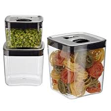 Click Clack Cubes with Stainless Lids  4.5 qt.