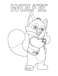 Small Picture Special Agent Wolfie of Special Agent Oso Coloring Page Download