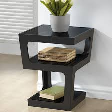 amazoncom baxton studio clara modern end table with tiered