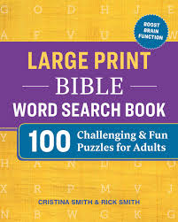 Large Print Bible Word Search Book: 100 Challenging and Fun Puzzles for  Adults: Smith, Cristina, Smith, Rick: 9781641529921: Amazon.com: Books