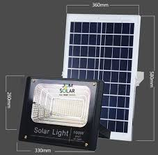 100w solar waterproof floodlight ip67 ready stock 1 year warranty