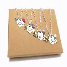 sister necklace set personalised