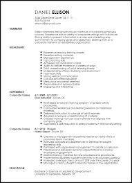 Traditional Resume Template Enchanting Free Traditional Corporate Trainer Resume Template ResumeNow
