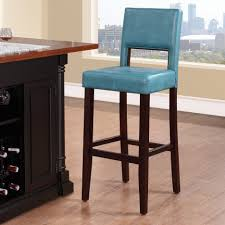 Ocean Blue Leather Bar Stools Light Wood Flooring Island With Wine Rack Blue Leather Bar Stools U13