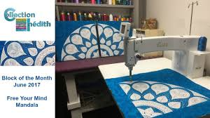 Quilt Block of the Month for June 2017 - Collection Inédith - Free ... & Quilt Block of the Month for June 2017 - Collection Inédith - Free Your  Mind Mandala Adamdwight.com