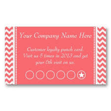 Rose Pink Chevron Discount Promotional Punch Card Zazzlecom