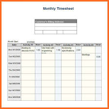 Excel Employee Time Sheet Monthly Timesheet Template Excel Template Business