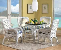 neat design of white fortable dining chairs with stripe blue and white seat