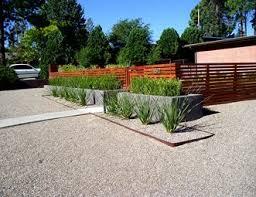 Modern Front Yard Landscape Modern Landscaping Red Twig Studio Albuquerque,  NM