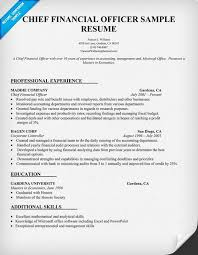 chief financial officer resumes chief financial officer resume sample resume samples across all