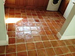 Terracotta Floor Tiles Kitchen Cleaning And Sealing Handmade Mexican Terracotta Tiles In