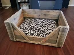 pallet wood dog bed6