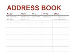 Excel Phone Book Nanciebenson Co