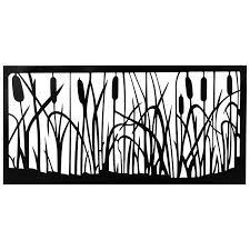 cattails black metal wall art decorative panel on black metal wall art with cattails black metal wall art decorative panel sekit international