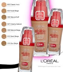 loreal infallible makeup liquid foundation 606 natural buff