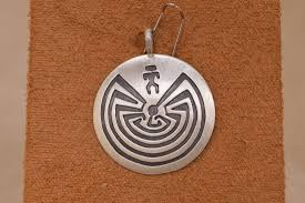 sterling silver man in the maze pendant