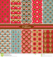 Pattern Collection Delectable Collection Of Seamless Pattern Backgrounds Stock Vector