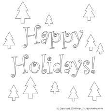 Small Picture Happy Holidays coloring page