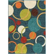 orian rugs circles sky blue indoor outdoor kids area rug common 5 x