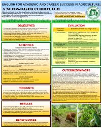 english for academic and career success in agriculture a needs english for academic and career success in agriculture a needs based curriculum educational needs
