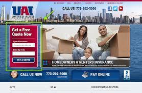 united auto insurance quote step 1