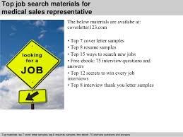 5 top job search materials for medical sales representative medical sales representative cover letter