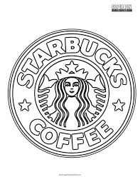 Starbucks Coloring Page Super Fun Coloring