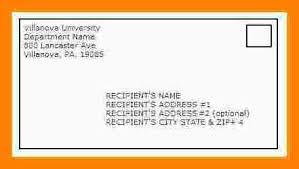 mailing a letter format mailing a letter format