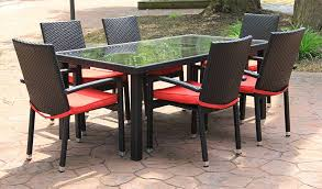 outdoor patio wicker chairs. creative of vinyl wicker outdoor furniture and resin dining tables habana 7 piece patio chairs