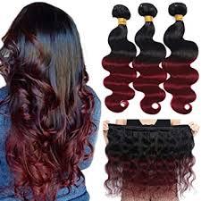 Amazon.com : 10A <b>Ombre</b> Brazilian Hair Body Wave (<b>T1B</b>/<b>99J</b>, 14 ...