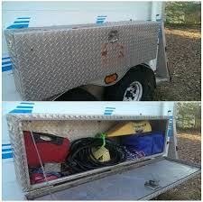 trailer fender tool box. tool box mounted to the rear bumper for extra storage. | camper: pop up camper organization ideas pinterest storage, and storage trailer fender 1