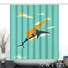 funny shower curtain giraffe jaws ride flying funny shower curtain funny shower curtains uk