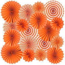 This home decoration is just a idea, you can improve or use your own ideas. 18pc Party Hanging Orange Paper Fans Fall Paper Fans Orange Round Folding Fans Wall Decor Paper Garlands Flower Decoration For Fall Party Decorations Thanksgiving Halloween Birthday Festival Wedding Walmart Com Walmart Com