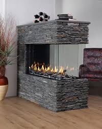 possible see thru fireplace concept not the stone though