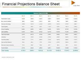 Balance Sheet Projections Financial Projections Balance Sheet Template Balance