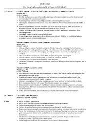 Product Management Lead Resume Samples Velvet Jobs