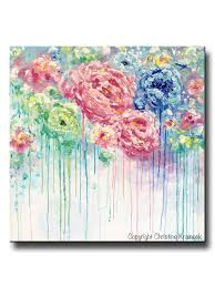 original art abstract painting flowers blue white pink floral textured xl wall art colorful peonies on whimsical wall art on canvas with original art abstract flower painting large canvas blue colorful
