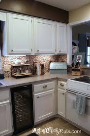 chalk painted kitchen cabinets. Simple Cabinets Kitchen Cabinet Makeover With Chalk Paint Artsychicksrulecom  Kitchencabinetmakeover Chalkpaint Inside Painted Cabinets T