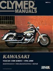kawasaki motorcycle manuals diy repair manuals clymer kawasaki vulcan 1500 series motorcycle 1996 2008 service repair manual