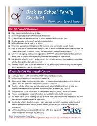 Checklist For School Back To School Checklist Macon County R 1 School District
