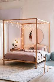 Amusing Wood Canopy Bed In Black Building | Challengesofaging canopy ...