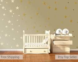 120 gold metallic stars nursery wall decals nursery wall stickers childrens baby wall art baby shower gift vinyl wallpaper art decor on wall art decals with wall decals murals etsy