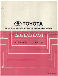 2003 toyota sequoia wiring diagram manual original 2001 2007 toyota sequoia body collision repair shop manual original